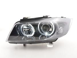 BMW 3er E90/E91 05-11 Фары Angel Eyes черные
