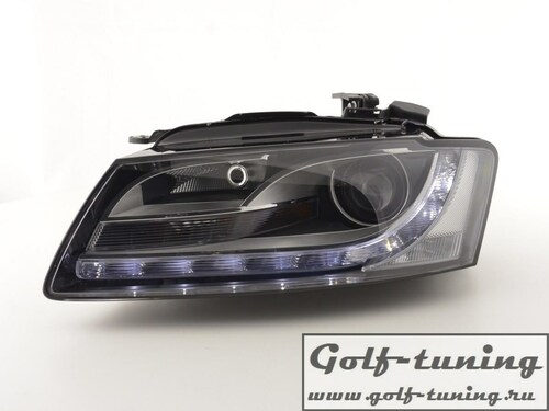 Audi A5 07-08 Фары Devil eyes, Dayline черные FKFSAI14001