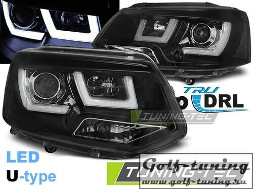 VW T5 09-15 Фары U-TYPE черные