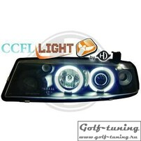 Opel Calibra Фары с линзами и CCFL ангельскими глазками черные