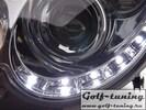 Mercedes W209 04-09 Фары Devil eyes, Dayline хром
