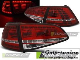 VW Golf 7 12-17 Фонари светодиодные, GTI Look красно-белые