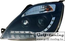 Ford Fiesta 01-05 Фары Devil eyes, Dayline черные