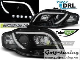Audi A4 B7 04-08 Фары Tube Lights черные