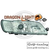 Peugeot 306 97-01 Фары Devil eyes, Dayline хром с светодиодным поворотником
