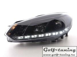 VW Golf 6 Фары Devil eyes, Dayline черные