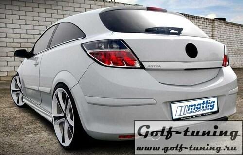 Opel Astra H GTC Накладка на задний бампер