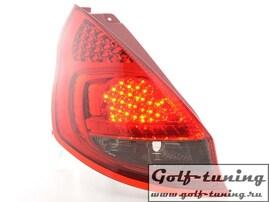 Ford Fiesta 5D 08- Фонари светодиодные, красно-тонированные