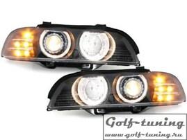 BMW E39 95-00 Фары с линзами и ангельскими глазками хром