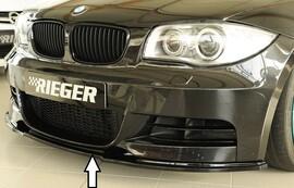 BMW E82, E88 M-Paket 07- Накладка на передний бампер/сплиттер черная, глянцевая
