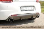 VW Scirocco 08-14/14- Диффузор для заднего бампера черный