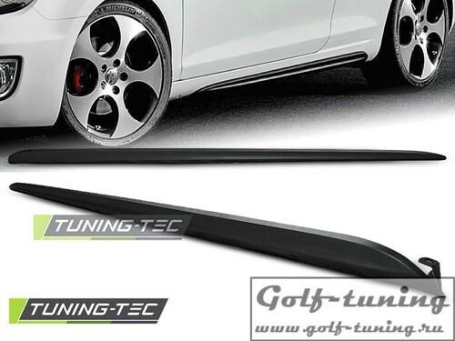 VW Golf 6 Накладки на пороги в стиле GTI