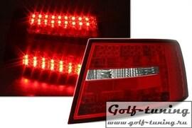 Audi A6 4F 04-08 Седан Фонари светодиодные, красно-белые