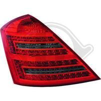 Mercedes W221 05-11 Фонари светодиодные, красно-тонированные