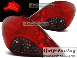 Peugeot 207 06-09 3D/5D Фонари светодиодные, красно-тонированные
