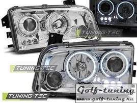 Dodge Charger LX 06-10 Фары Angel eyes хром