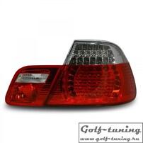 BMW E46 99-03 Купе Фонари светодиодные, красно-белые