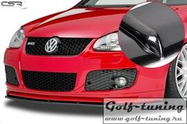 VW Golf 5 GTI Накладка на передний бампер Cupspoilerlippe carbon look