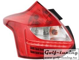 Ford Focus 3 Хэтчбек 11-14 Фонари светодиодные, красно-белые