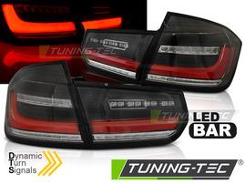 BMW F30 11-18 Фонари lightbar design с бегающим поворотником черные