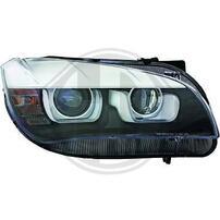 BMW X1 E84 11-14 Фары черные с линзами и 3D ангельскими глазками под ксенон