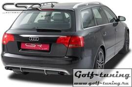 Audi A4 B7 04-08 Накладка на задний бампер O-Line design