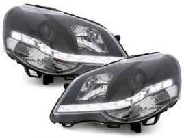 VW Polo 9N 05-09 Фары Devil eyes, Dayline черные