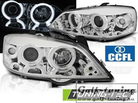 Opel Astra G Фары CCFL ANGEL EYES хром