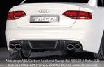 Audi S4 B8/B81 08-11 Диффузор для заднего бампера черный