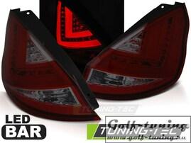 Ford Fiesta MK7 12-15 Хэтчбэк Фонари Led bar светодиодные, красно-тонированные