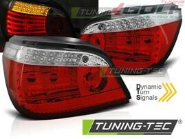 BMW E60 07-10 Фонари красно-белые, с динамическим бегающим поворотником