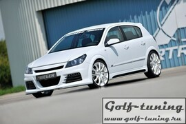 Opel Astra H GTC Пороги Carbon Look