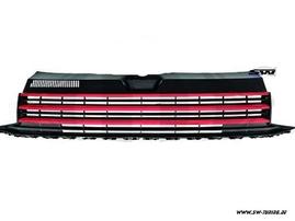 VW T6 15-20 Решетка радиатора без значка с красными полосками