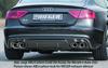 Audi S5 11-16 Sportback Накладка на задний бампер/диффузор