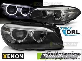 BMW F10/F11 10-13 Фары AE LED черные Drl под ксенон