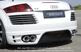 Audi TT 8J 06-14 Задний бампер Carbon Look