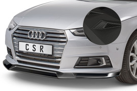 Audi A4 B9 (Typ 8W)  15-19 Спойлер переднего бампера Carbon look