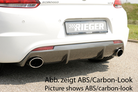 VW Scirocco 08-14/14- R-Line Диффузор для заднего бампера черный