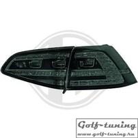 VW Golf 7 12-17 Фонари светодиодные, черно-тонированные