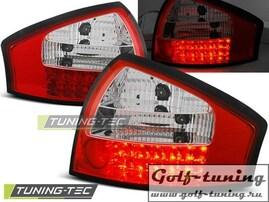 Audi A6 97-04 Фонари светодиодные, красно-белые