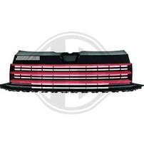 VW T6 15- Решетка радиатора без значка с красными полосками
