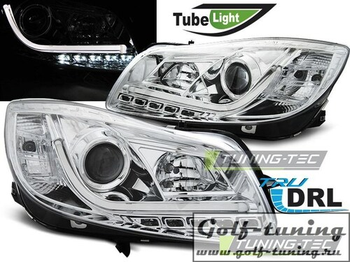 Opel Insignia 08-12 Фары Tube lights хром