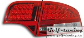 Audi A4 B7 04-08 Седан Фонари светодиодные, краснo-белые