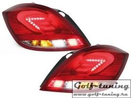 Opel Astra H 5Дв Фонари светодиодные, красно-белые Lightbar