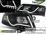 Audi A6 4F 04-08 Фары Led Tube Lights черные