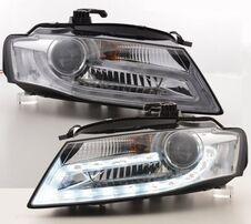 Audi A4 B8 08-11 Фары lightbar design хром