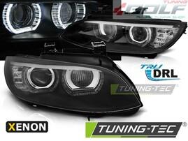 BMW E92/E93 06-10 Фары с светодиодными ангельскими глазками под ксенон черные