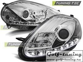 Fiat Grande Punto 05-09 Фары Devil eyes, Dayline хром