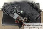 VW Golf 6 Фары в стиле Golf 7 GTI с черной полосой