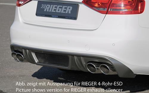 Audi A4 B8 07-11 Седан/Универсал Диффузор для заднего бампера Carbon Look